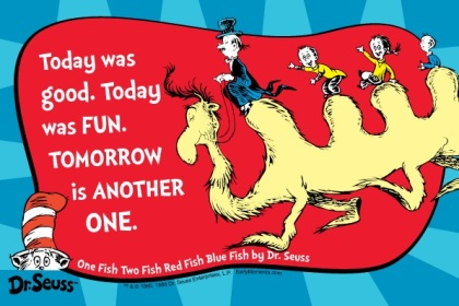Dr Seuss Today was fun.