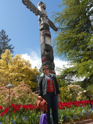 Me and totem pole