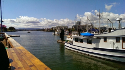 Harbour view from lunch stop at Red Fish Blue Fish