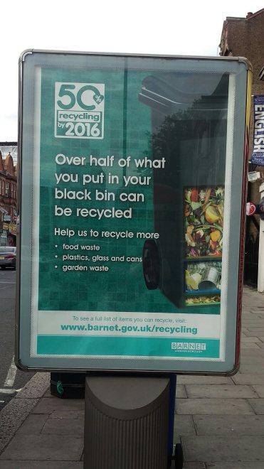 Barnet recycling street poster July 2015