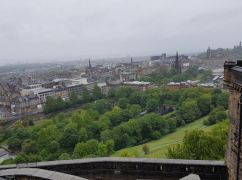 View from the castle back over the Mound, Waverley Station and Edinburgh New Town