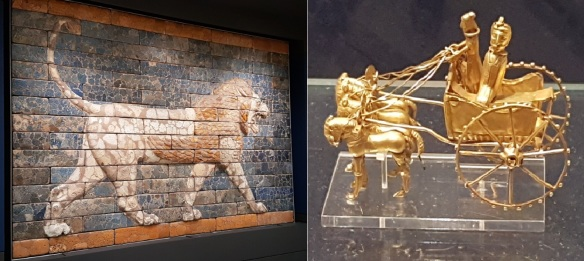 Brit.Mus. Lion tiles + golden chariot