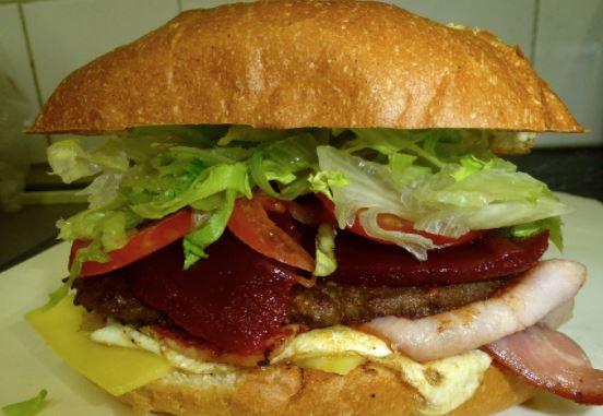 Aussie beetroot burger