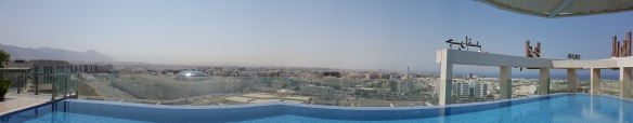 Panorama from rooftop pool 1